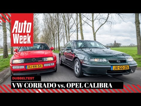 Volkswagen Corrado VR6 Vs. Opel Calibra 2.5i-V6 - Classics Dubbeltest - English Subtitles