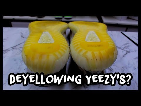 SEMI YELLOW YEEZY 350's CAN BE FIXED!