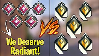 Valorant: 5 Immortal who think they deserve Radiant VS 5 Actual Radiant Players!