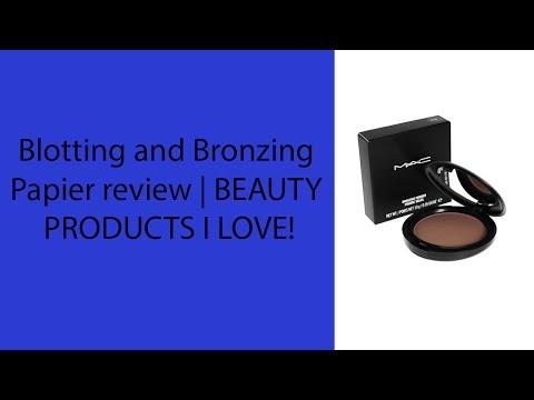 Best Blotting and Bronzing Papier review