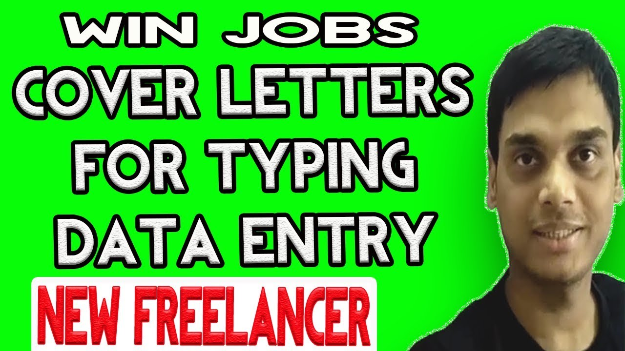 UpworkPph Sample Cover Letter For Data Entry And Typing  Win Jobs