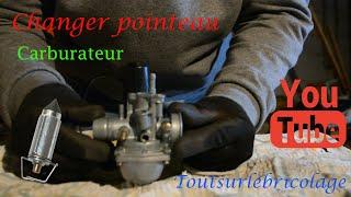 Entretien et réparation d'un scooter : Fuite carburateur (changer pointeau scooter)