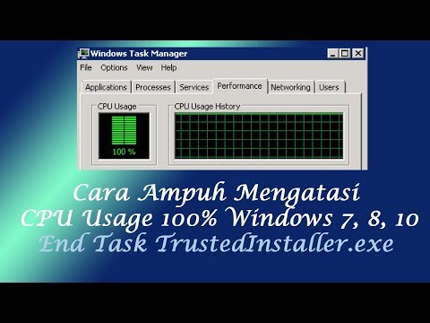 Cara Ampuh Mengatasi CPU Usage 100% Di Windows 7, 8, 10 - TrustedInstaller End Task