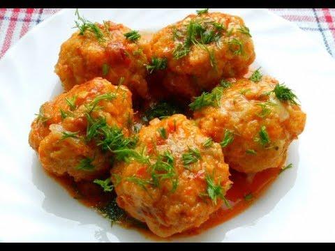 Мясные ежики в томатном соусе в мультиварке
