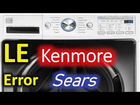 LE Error Code SOLVED!!! Kenmore 796 Front Load Washer Washing Machine