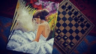 Painting || Beautiful Bride In White || Time-Lapse || Paint With Dhairya
