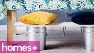 Paint Can Diy Idea #1: Bench - Homes+
