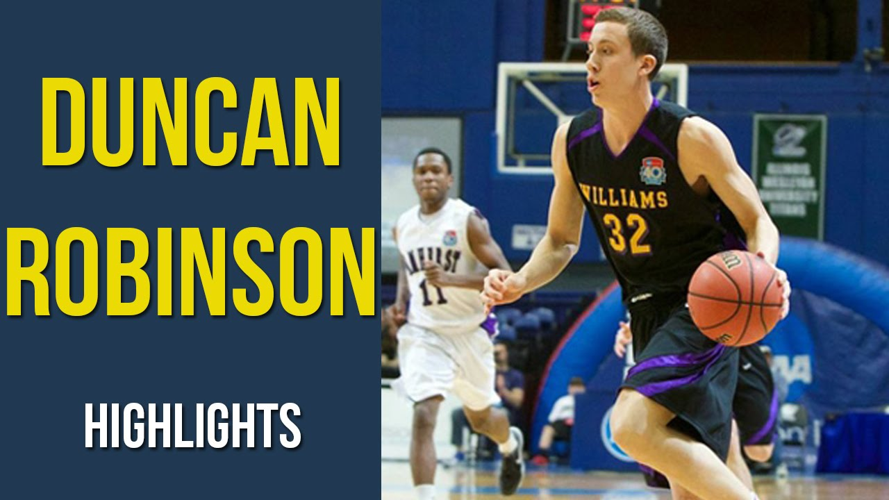 Duncan Robinson Michigan Commit At Williams College Highlights Youtube