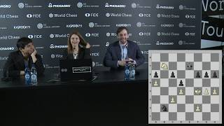 Round 9. Press conference with So and Grischuk