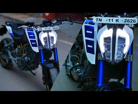 Ktm duke 390 headlight in old duke 200/part 2