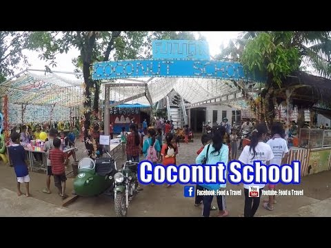 Coconut School (Part I) | Asian Travel To Koh Dach Phnom Penh, Cambodia - Asean Country Trip Video
