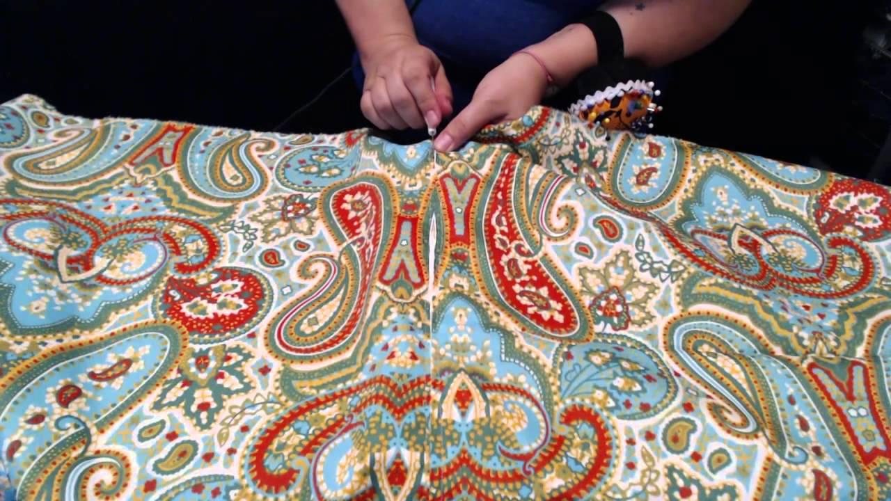 Tutorial: coser una funda de cojin con cremallera   YouTube