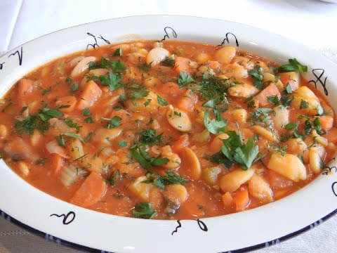 """BUTTER BEANS - GIANT BEANS - """"STAVROS' KITCHEN - GREEK AND CYPRIOT CUISINE"""