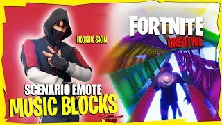 IKONIK Skin - Scenario Emote [Music Blocks] Fortnite Creative | *TUTORIAL IN THE DESCRIPTION*