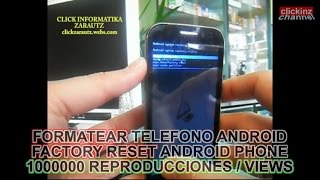 ANDROID HARD RESETEAR FACTORY RESET FORMATEAR TELEFONO MOVIL Desbloquear PATRON PHONE Unlock Chino
