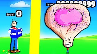 HOW SMART IS THE HIGHEST LEVEL BRAIN HEAD EVOLUTION? (9999+ IQ LEVEL ) l Roblox Big Brain Simulator