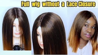 HOW TO MAKE A WIG WITHOUT A FRONTAL ft Adorable Quattro Yaki Wave| Hot Glue Method
