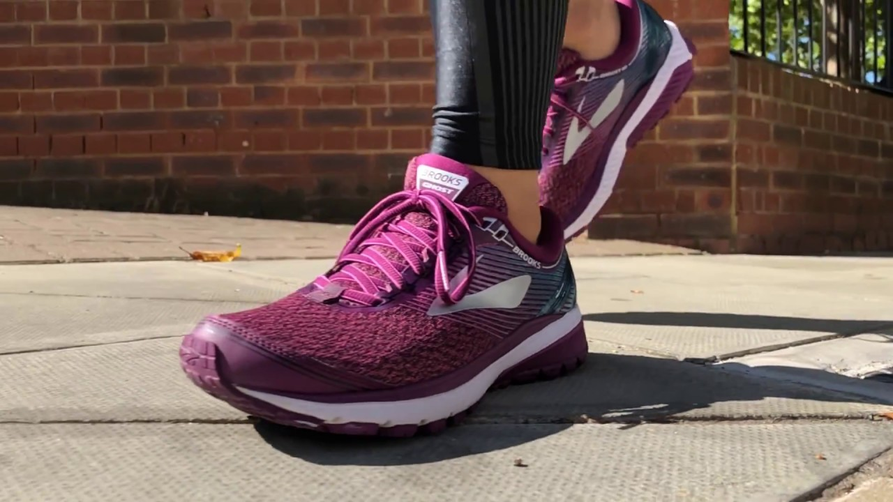 991a6ae5f54 Women s Brooks Ghost 10 (Purple Pink Teal) Slo-Mo - YouTube