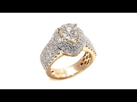 Diamond Couture 2ct Diamond PearShaped 14K Yellow Ring. https://pixlypro.com/5YVIlLn