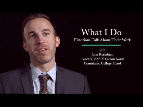What I Do: John Rosinbum - History Teacher and College Board Consultant
