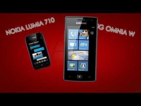 Nokia Lumia 710 VS Samsung Omnia W I8350 Comparison Video