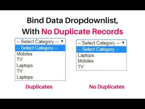Prevent Duplicate Values Bind Dropdownlist Sqldatasource Asp.net