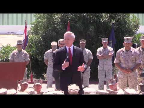 Navy secretary speaks to Marines about female integration