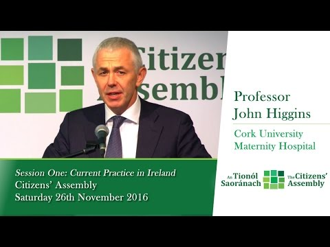 Session One: Current Practice in Ireland - Professor John