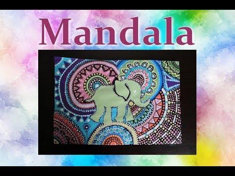 Eléphant mandala peinture acrylique facile à faire . - YouTube
