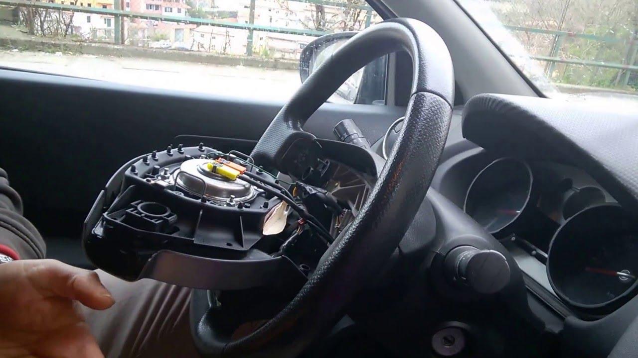smontaggio gruppo airbag volante qashqai