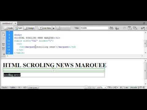 Html Scrolling News Text Marquee