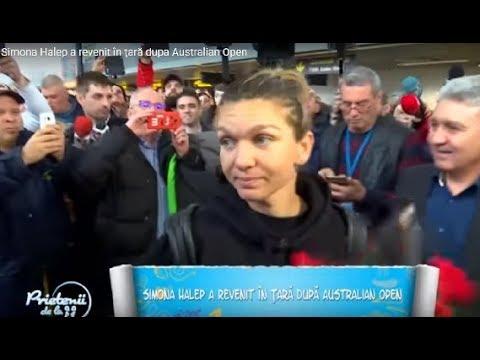 Simona Halep a revenit în ţară dupa Australian Open