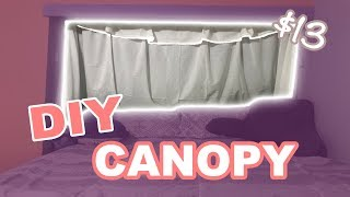 Buzzfeed Inspired DIY $13 Bed Canopy **REALISTIC RESULTS**