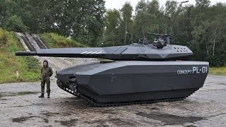ADVANCED STEALTH NEW TANK  PL 01 Concept better than US military M1 abrams