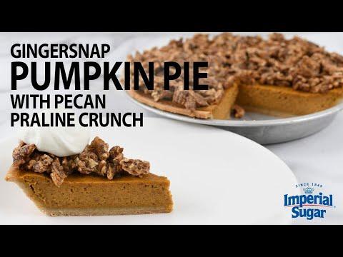 How to Make Gingersnap Pumpkin Pie with Pecan Praline