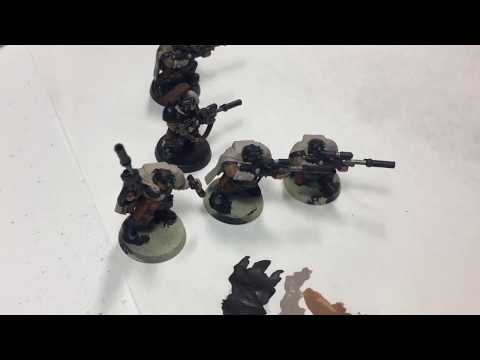 Day 2 - 2017 July Painting Challenge - Scout Sniper Squad Basecoated