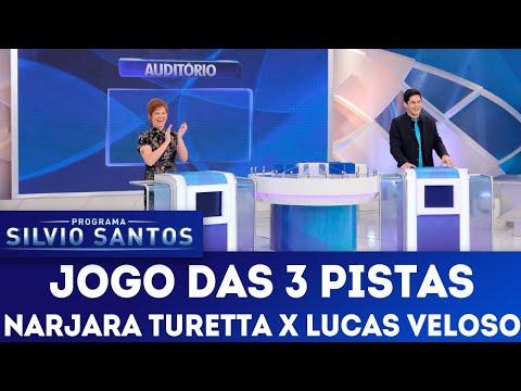Jogo das 3 Pistas com Narjara Turetta x Lucas Veloso | Programa Silvio Santos (15/07/18)
