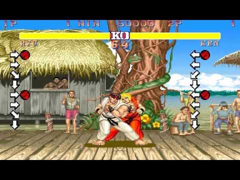 Street fighter 2 CPS1 glitch Red hadouken