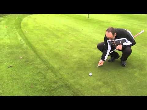 Repairing pitch marks - Croham Hurst Golf Club