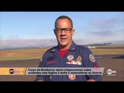 Corpo de Bombeiros de Chapecó alerta sobre cuidados com aquecedores no inverno
