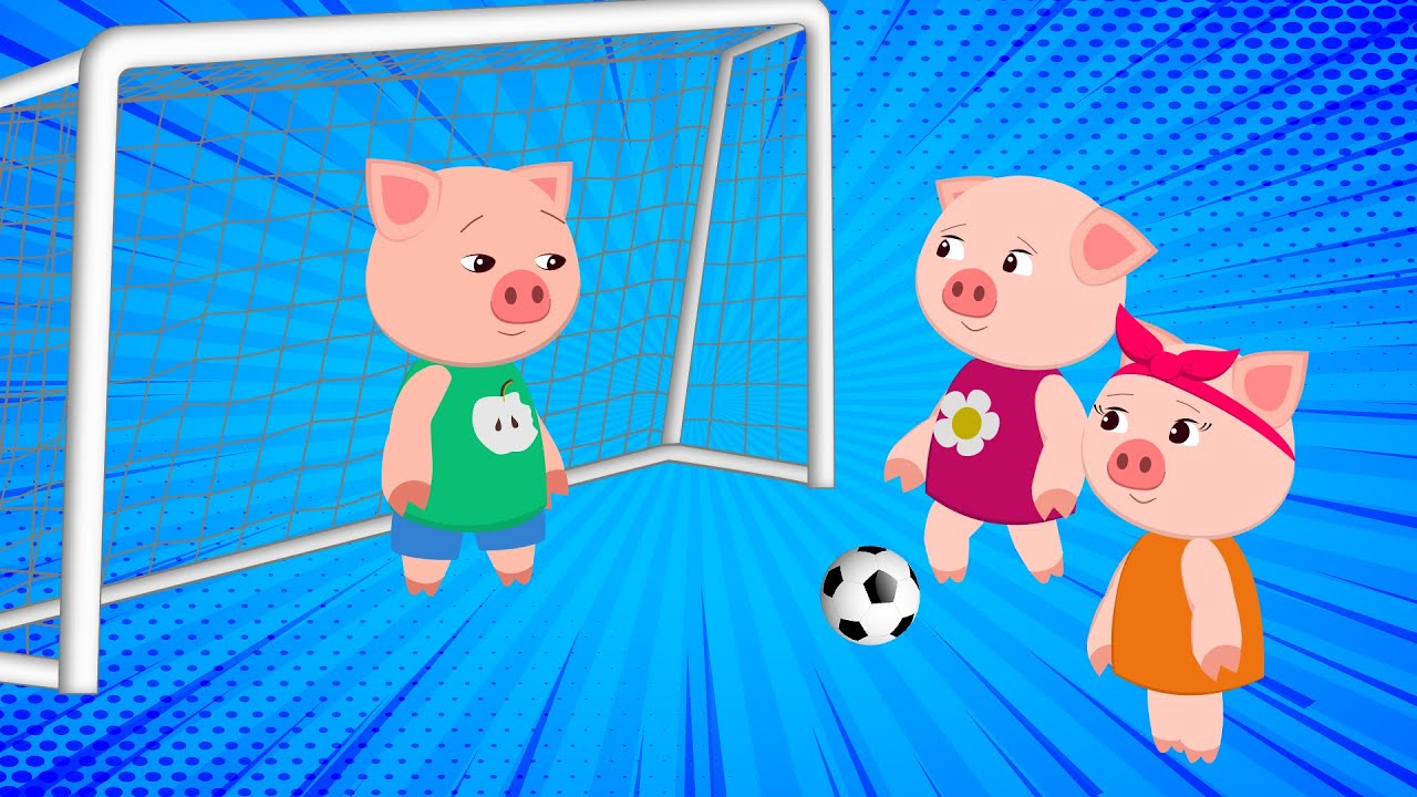 *NEW* Baby Pig Play a Soccer | Pig cartoon for Children