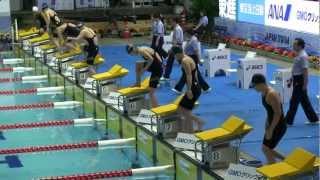 Swim 女子 400m 自由形 予選 4組 日本選手権競泳2012-402