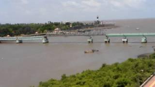 A view of both bridge in daman India