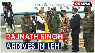 Defence Minister Rajnath Singh Arrives in Leh for Security Review amid Border Row With China