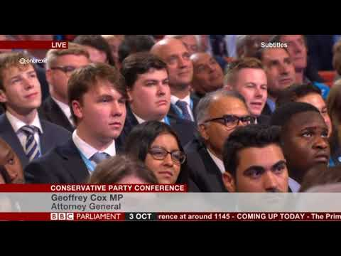 Barnstorming Speech by Geoffrey Cox at the #CPC18 03/10/2018