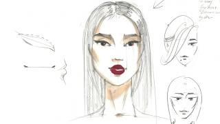 💁🏻Бесплатный вебинар по ФЭШН СКЕТЧИНГУ: рисуем лицо