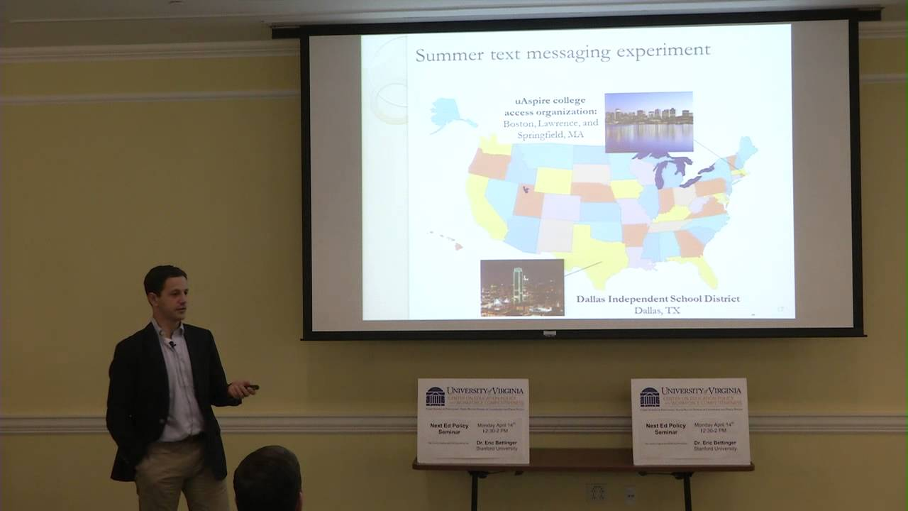 Ben Castleman gives Ed Policy Seminar on 4/24/14 - YouTube