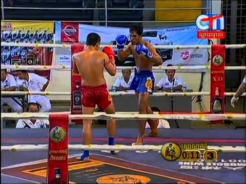 Khmer Boxing Khon Reach Vs Meas Phearum At CTN 22/Feb/2015