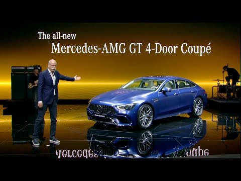 Mercedes-AMG GT 4-Door Coupe World Premiere at the Geneva Motor Show 2018