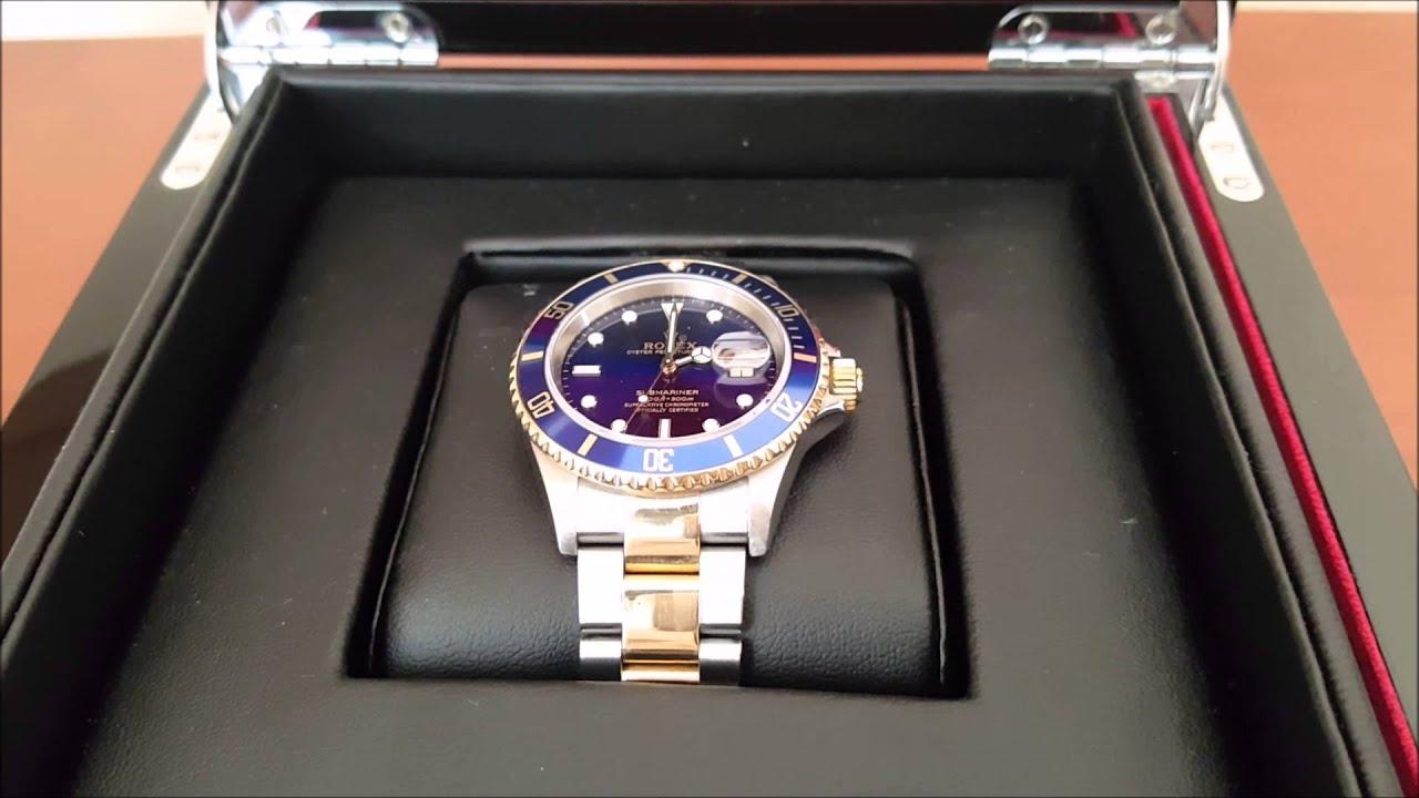 b54101d44fb Mi Nuevo Rolex Submariner Azul Oro 18K y Acero 16613 (F) - YouTube